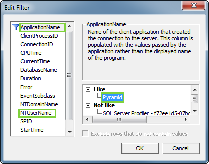Troubleshooting MDX Related Issues Using the SQL Profiler - General