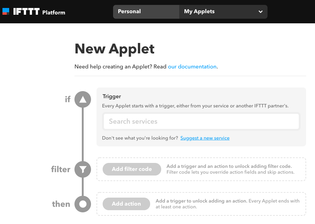 Using IFTTT with the API - API & Integrations - YNAB Support