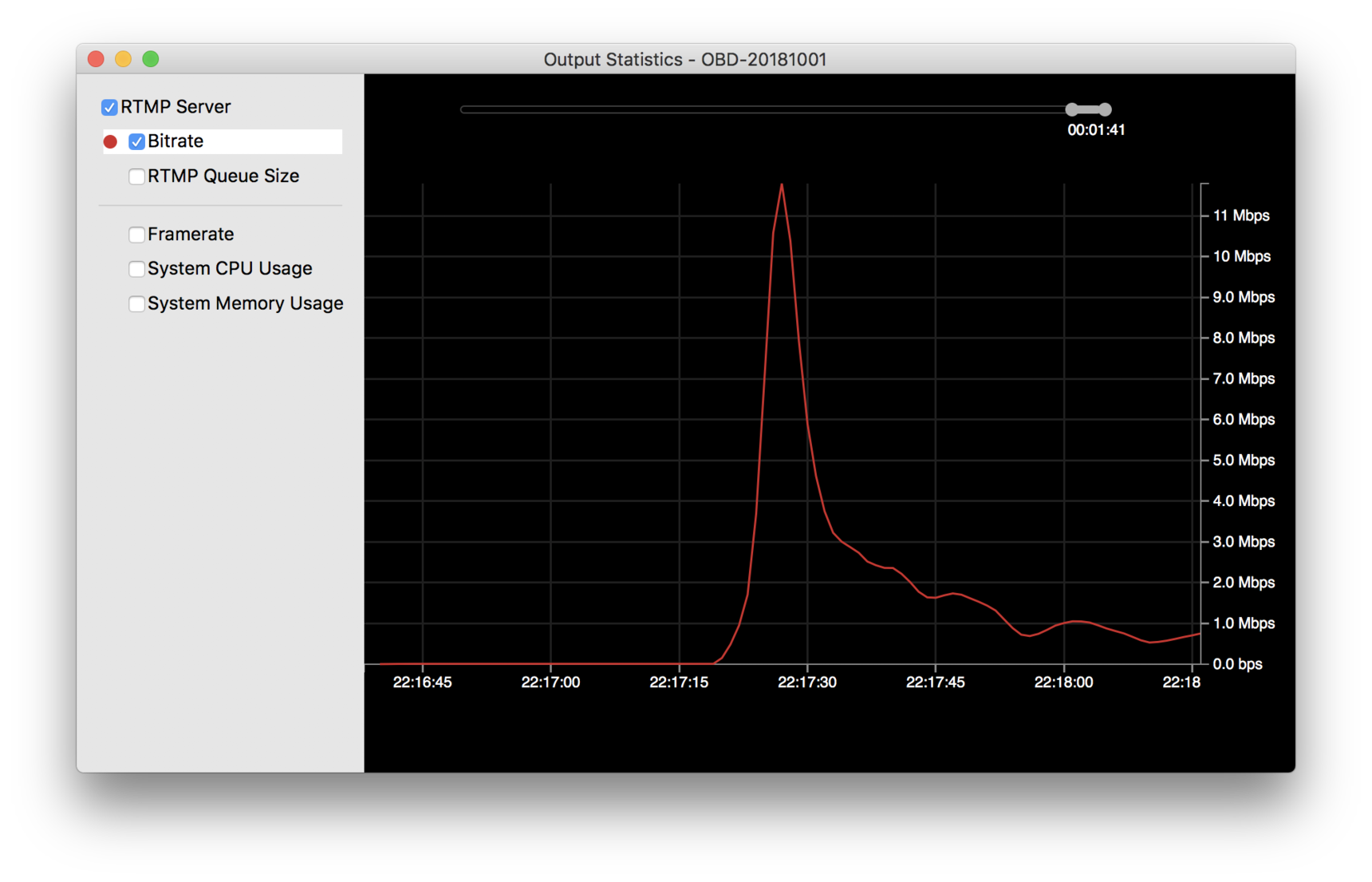 Wirecast Bug: Bitrate Spike - Apple Encoding #00618449
