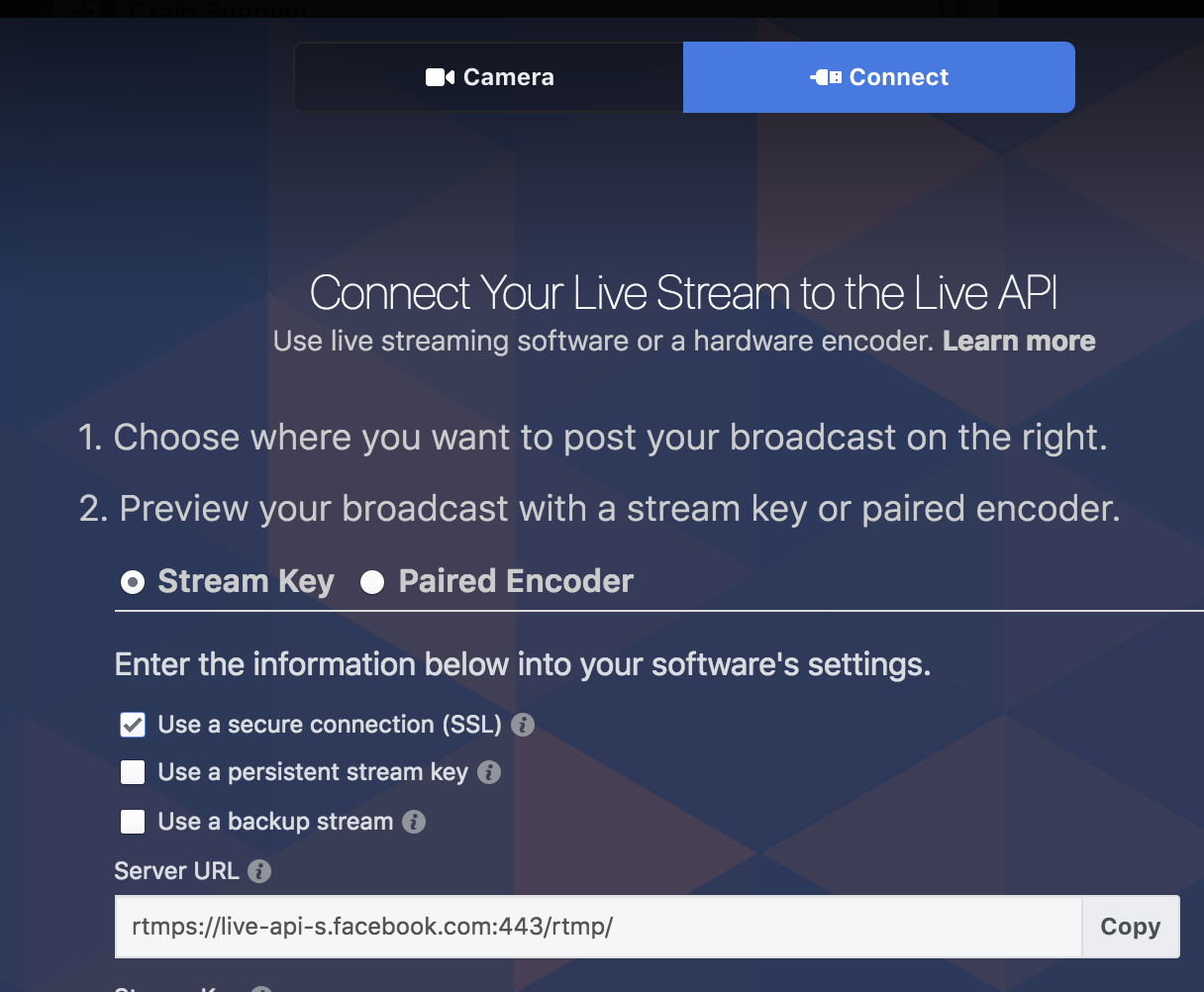 No Longer able to Stream to FB via RTMP - Wirecast Streaming