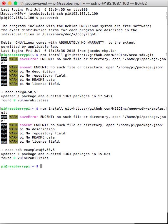 HowTo - Use SDK Drivers with RasberryPi - SDK / API - Planet NEEO