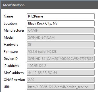 Onvif device test tool