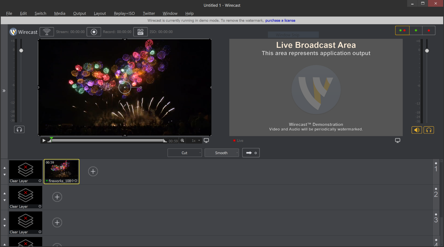 Black screen when playing the video file - Wirecast File