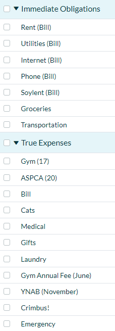 Happy with your budget categories? Please share! - Tips & Tricks