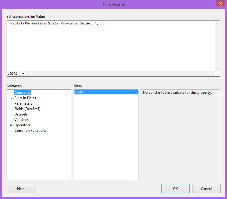 Passing Multiple-Select Parameters from BI Office to SQL Server