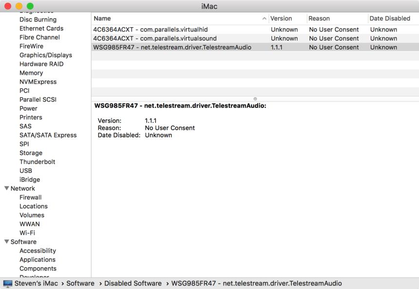 reinstall sound driver macbook pro