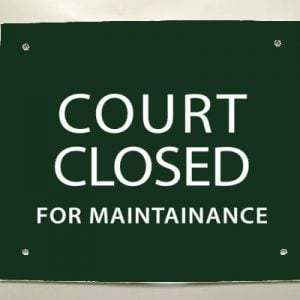 Tennis Courts at RSP Closed for Maintenance