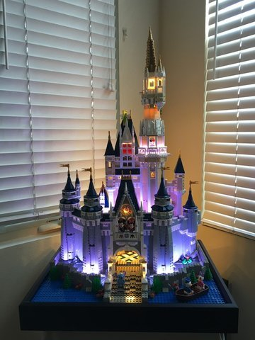 Light Up Disney Castle 71040 What Lights Do I Use For