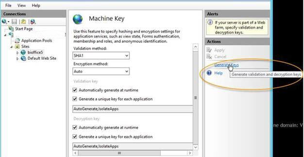 How to Generate a Machine Key in Case Your Web Server is