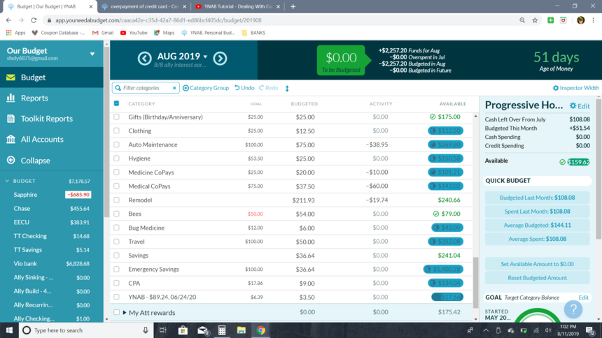 overpayment of credit card - Credit Cards & Debt - YNAB Support Forum