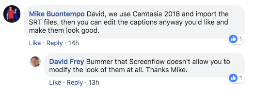 SRT Subtitling Question for Screenflow 8 - ScreenFlow