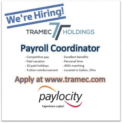 Seeking Payroll Coordinator - Galion, Ohio - Jobs - HR Net