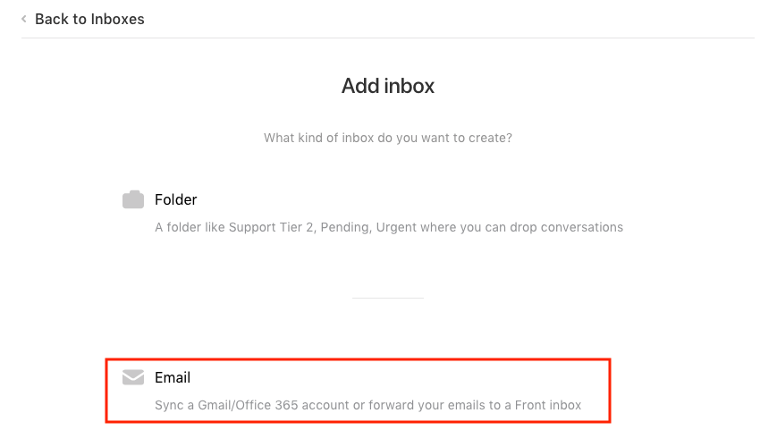 How to add an Office 365 inbox to Front - Adding an inbox - Front