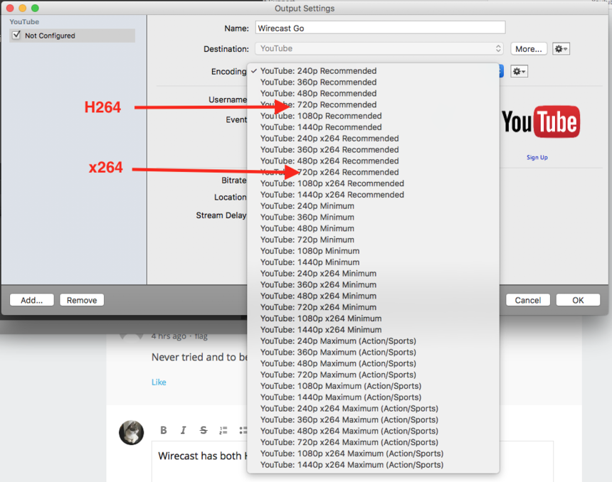 Youtube stream Audio out of sync - Wirecast Streaming