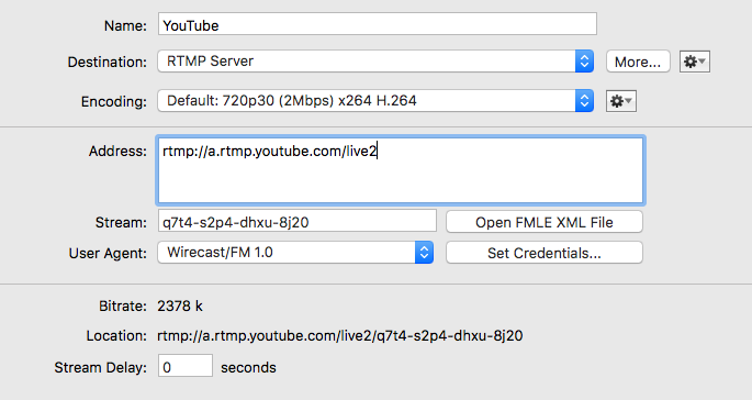 Keyframe Frequency Streaming to YouTube - Wirecast Streaming ...