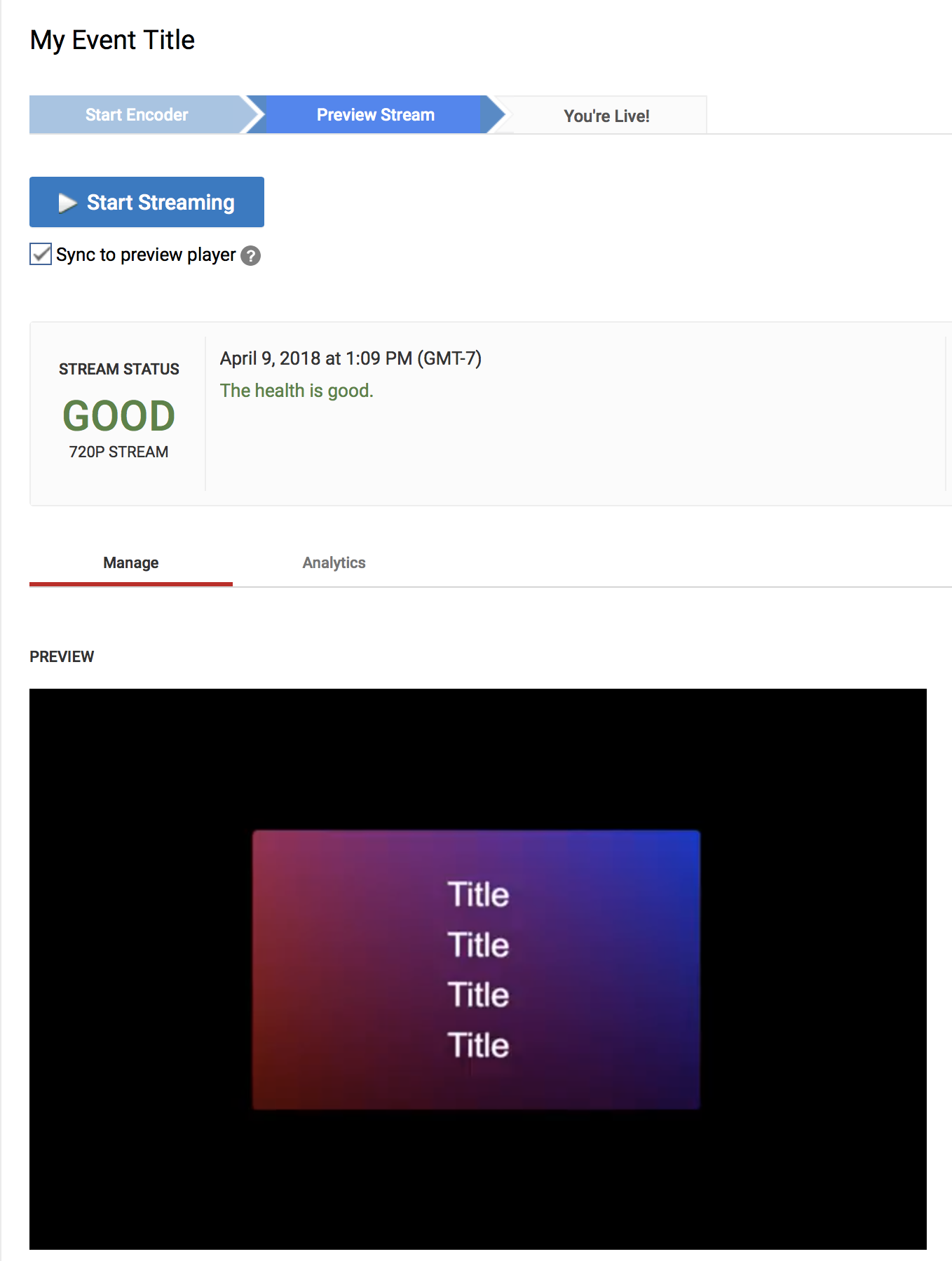 YouTube Live Events are completely broken - Wirecast
