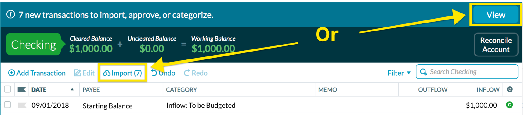 How often does YNAB sync, and how can you tell if it