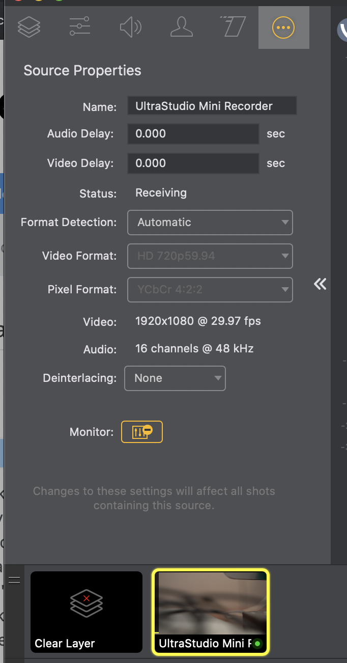 Issues With Ultrastudio Mini Recorder Sony A7iii And Wirecast Wirecast Capture Devices And Sources Q A Telestream Community Forum
