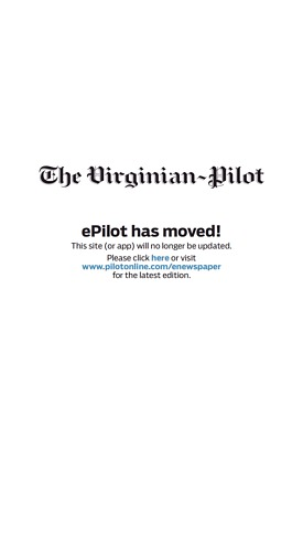 Today's Virginian-Pilot front page