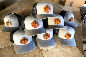 We sell leather patch hats in a variety of styles: trucker, flatbill, mesh back, and more