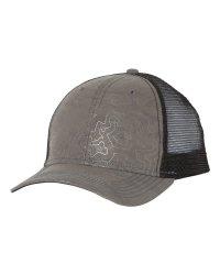 Grey Topography Trucker Cap