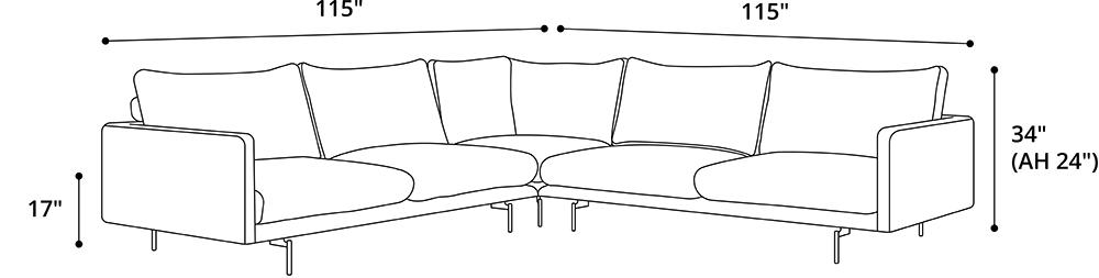Houston Corner Sofa