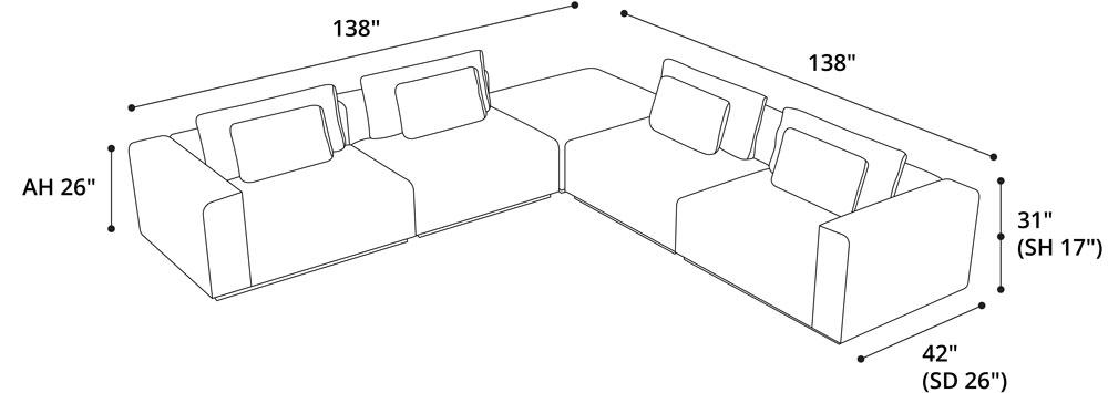 Spruce Modular Sofa 11