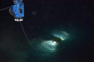 Jason on the surface at the begining of dive J2-1086 at Slope Base. Credit: Y. Meghare, Univeristy of Washington, V18.