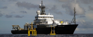 The Global Class research vessel, the R/V Roger Revelle, is operated by Srcripps Institution (SIO) of Oceanography. It will be utilized for the Cabled Array operations and maintainence cruise July - August, 2017. This image is from the SIO website.