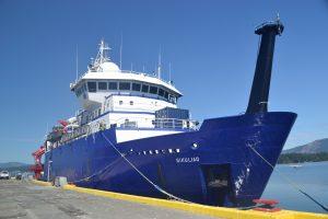 The RVSikuliaqat Patricia Bay, British Columbia. Credit: Mitch Elend, UW;V16
