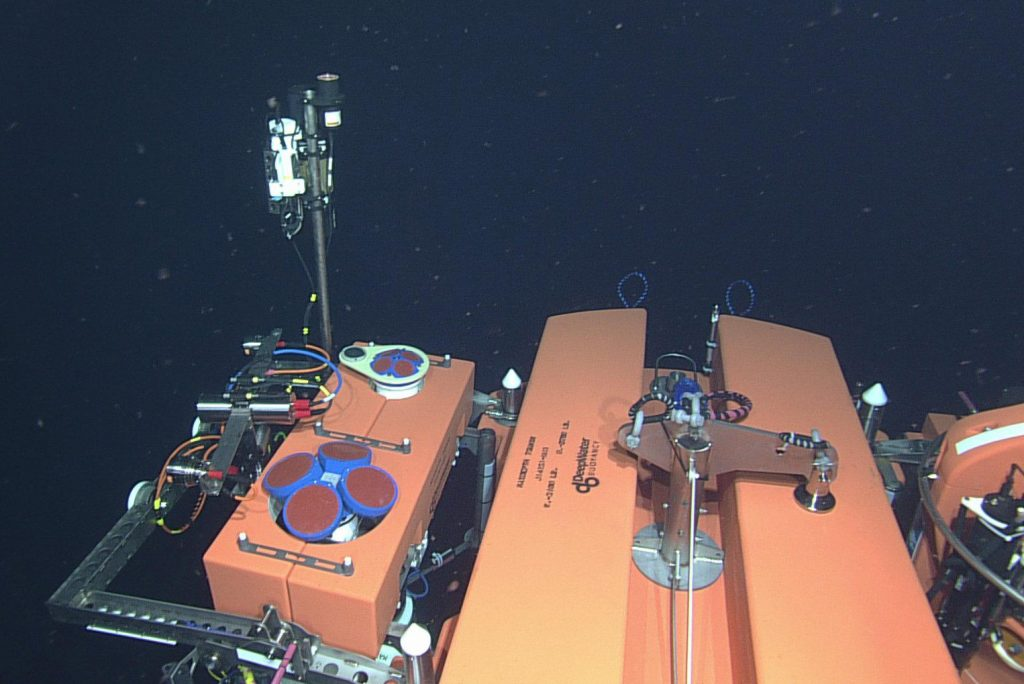 The 200-meter platform instrument package is seen here. The mooring was successfully installed during VISIONS'14. Photo Credit: NSF-OOI/UW/CSSF, Dive 1797, V14.