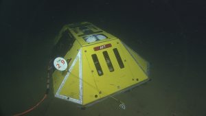 The Benthic Experiment Package (BEP) deployed at the Endurance Offshore site (600 meters depth) and plugged into low-voltage node LV01C.  Photo Credit: NSF-OOI/UW/CSSF, Dive 1745, V14