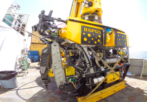 Meet the star of the VISIONS '14 movie, the robotic vehicle ROPOS - powerhouse of the operations during VISIONS 14. Photo credit: Christina Ramirez, University of Washington, V14.