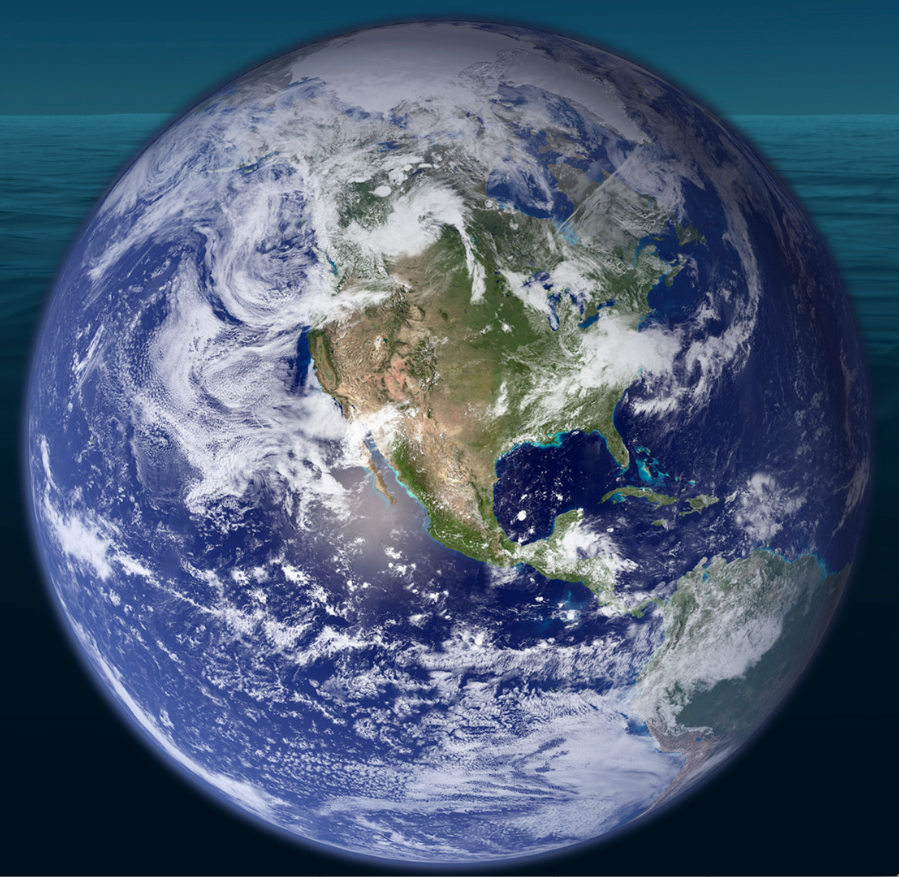 With more than 71% of the globe covered by ocean, Earth truly is the Water Planet.