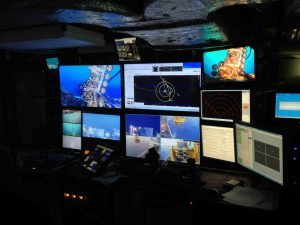 ROPOS Control Room on R/V Thompson, VISIONS '13  Photo by Fredrik Ryden