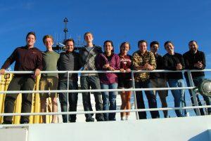 Students on VISIONS '13 Leg 3  Left to right: Trevor Uptain, Ryan Cox, Fredrik Ryden, Cody Turner, Marisa Gedney, Montgomery Taylor, Isaac Stockdale, Brendan Philip, Owen Coyle, J.R. Rembert