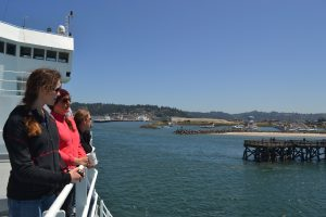 Leaving Newport Oregon for Southern Hydrate Ridge, the Cascadia Margin, and Axial Volcano.