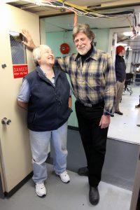 Co-chief Scientists, John Delaney and Deb Kelley enjoy a laugh (photo: Allison Fundis)