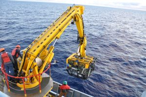 Beginning a nearly mile long descent to the seafloor (photo: Judy Twedt)
