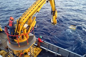 ROPOS begins dive 1592 at the summit of Axial Seamount. Photo by Mitch Elend.