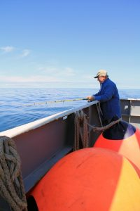 Pete Barletto, OOI-RSN Director and Chief Operating Officer, enjoys the afternoon fishing. (photo by Allison Fundis)