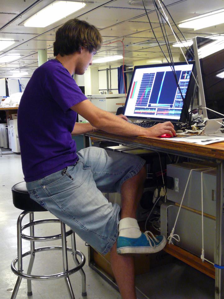 Sam Monk edits EM300 data