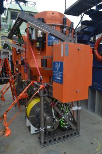 A Shallow Profiler ready for deployment during Leg 2. Credit: M. Elend, University of Washington.