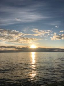 Sunset at Sea Credit: J. Clairmont, University of Washington V19