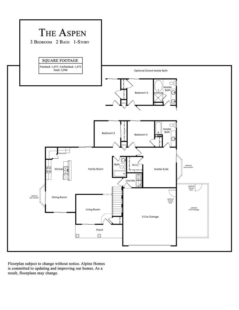 Alpine Homes - Aspen Floor Plan