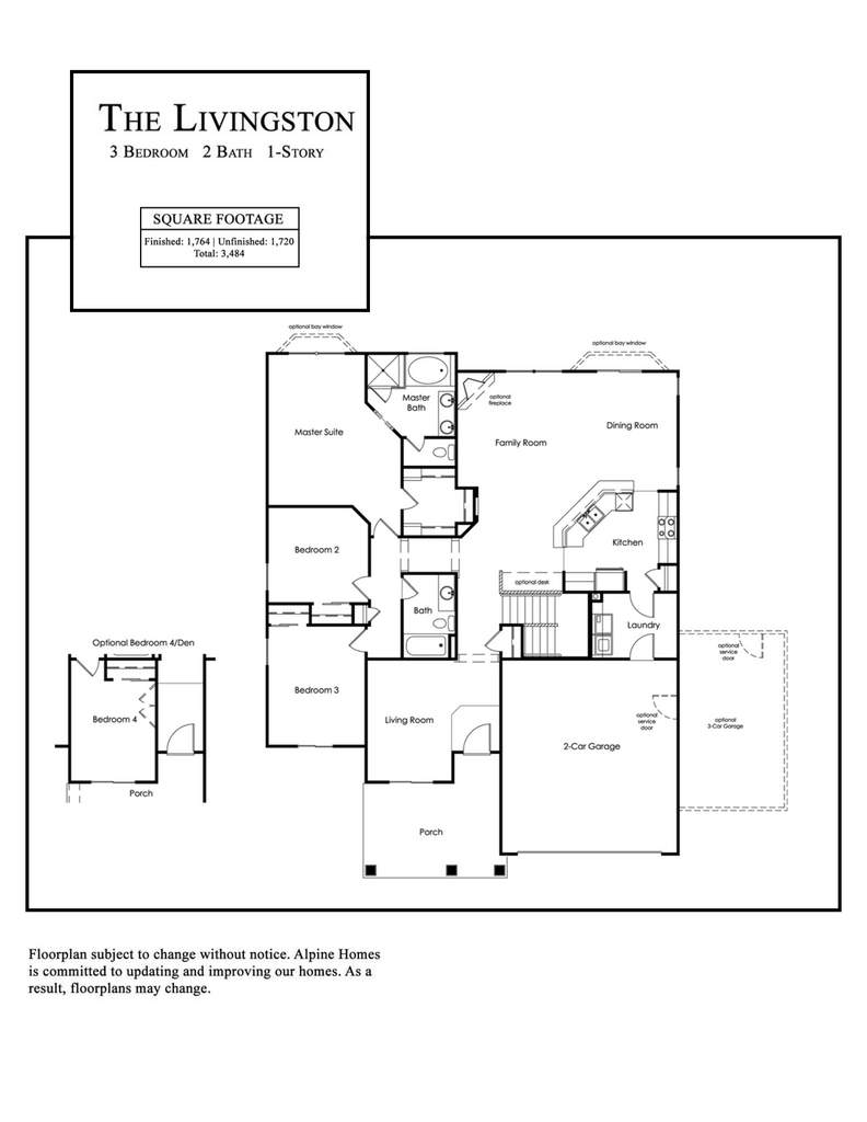Alpine Homes - Livingston Floor Plan