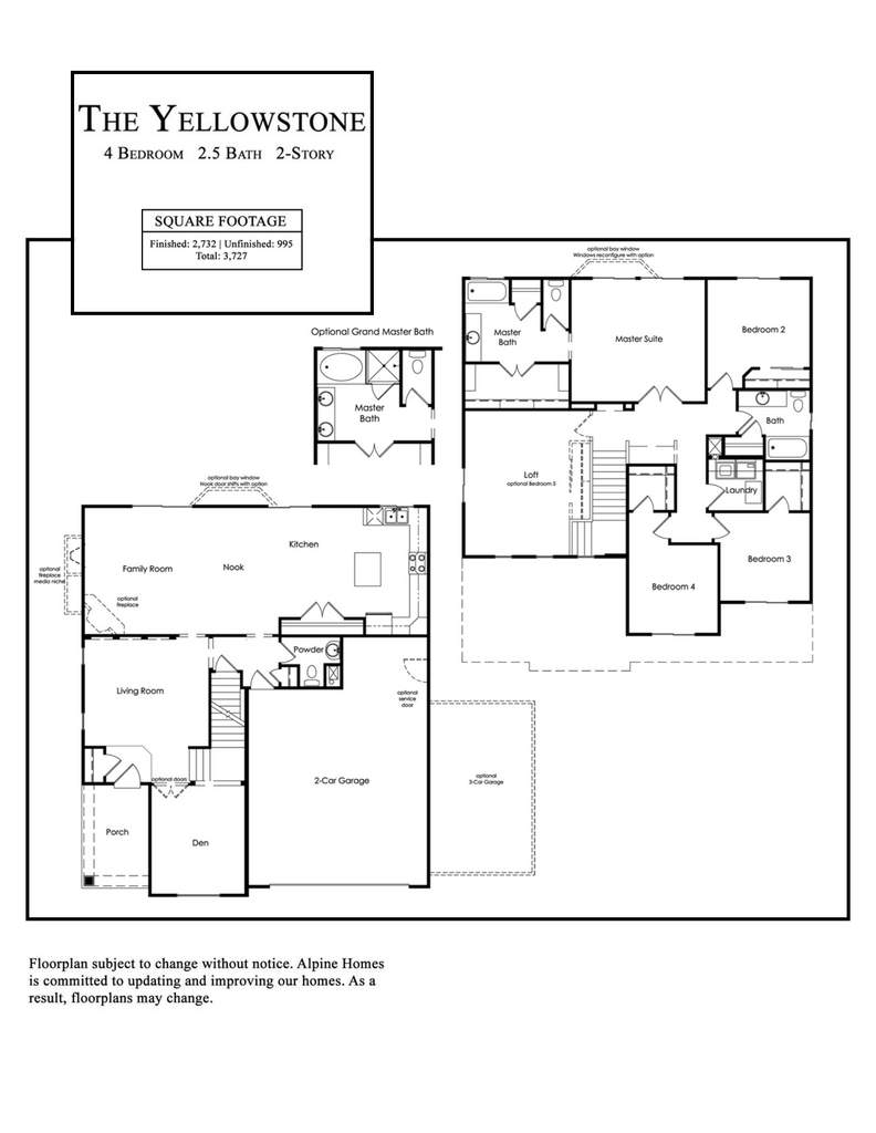Alpine Homes - Yellowstone Floor Plan