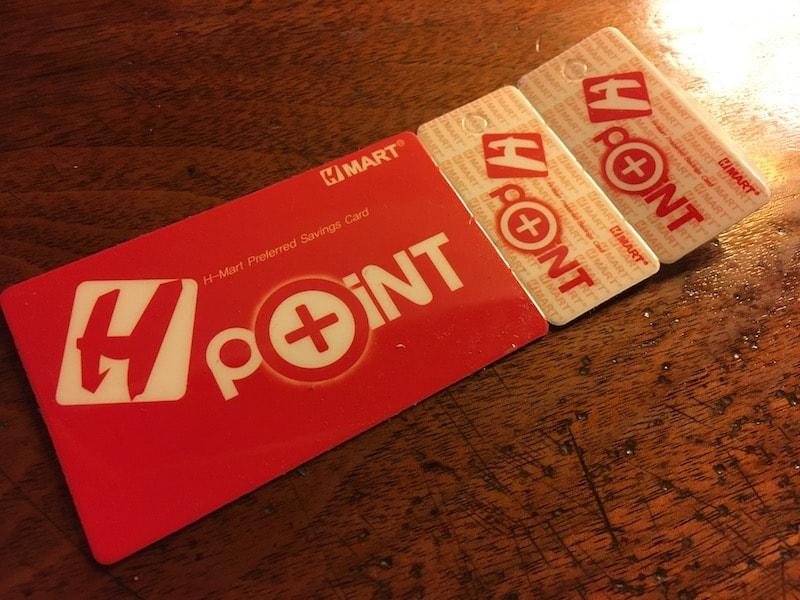 知ってましたか?H mart ポイントカード
