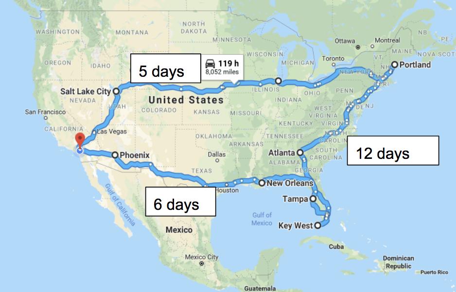 25〜明日から車でアメリカ一周の旅に出ます。〜
