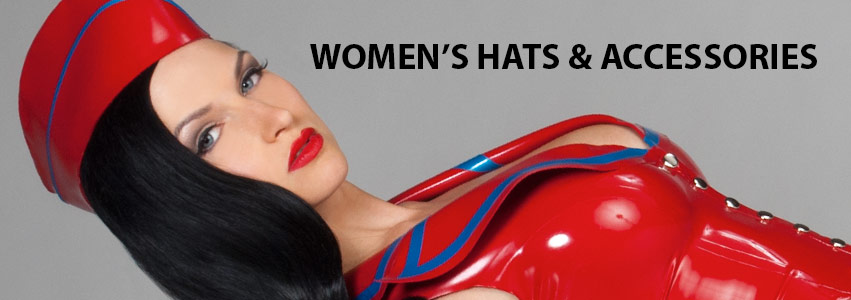 Women's Latex Hats and Accessories